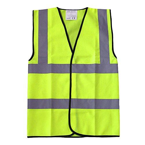 Gilè di sicurezza per bambini alta visibilità vari colori e taglie, con stampa personalizzabile Yellow L