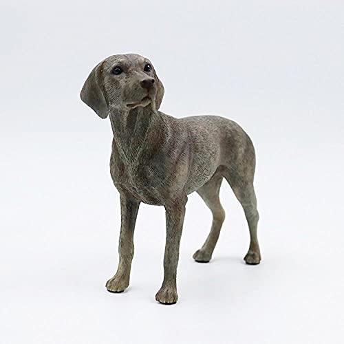 DXZQ Adornos de Animales de simulación Escultura Animal Artificial Weima Modelo de simulación Wei Caballo Perro Perro Adornos Coche artesanía Distribuidor Animal