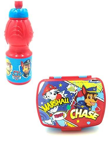 Fiambrera y botella combinada, juego de caja de viaje de Paw Patrol,