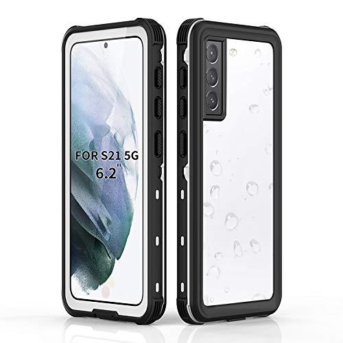 BDIG Funda Impermeable para Samsung Galaxy S21, [Protección de 360 Grados][Anti-rasguños] Carcasa Protectora con Protector de Pantalla Incorporado para Samsung Galaxy S21 Case 6.2'