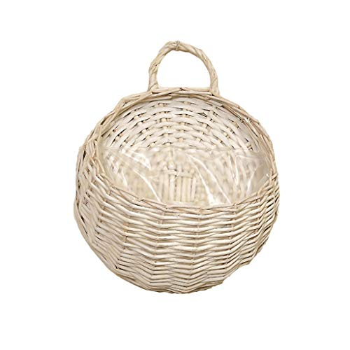 flower pot TXC, macetas de jardín colgantes para colgar macetas, cesta colgante de pared, cesta colgante para colgar en la pared, nido de pájaros, para colgar en la pared (color: blanco, tamaño: L)