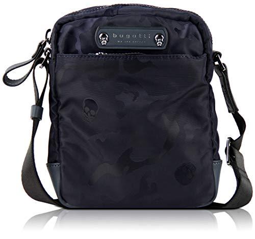 bugatti Camo Kleine Umhängetasche für Damen und Herren, Schultertasche Messenger Bag Kuriertasche, Camouflage, Marine