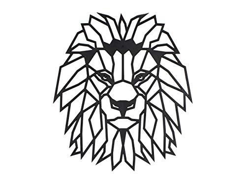 CONTRAXT Figuras geométricas decorativas Cuadros de animales decoración pared Leon decorativo Figuras cabeza animal Adornos de Pared Salones Modernos (León)