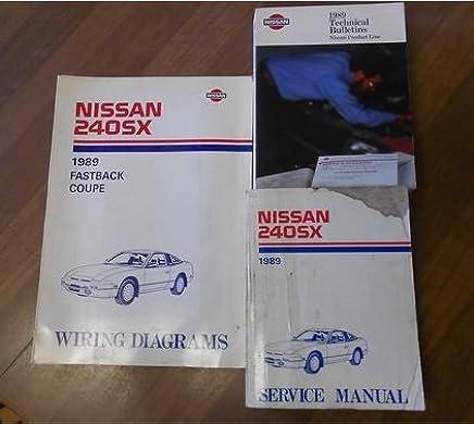 1989 nissan 240sx serice repair shop manual set factory oem book 89 (1989  nissan 240sx service manual 1989 nissan 240sx wiring diagram 1989 nissan  technical