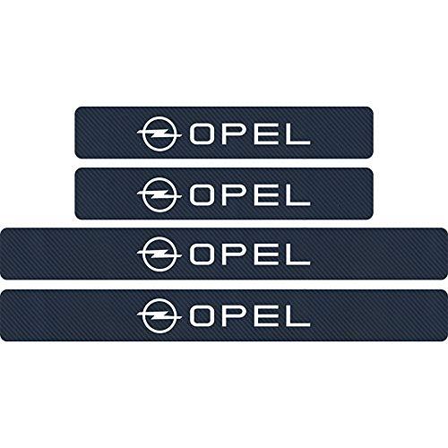 4 StüCk Auto Kohlefasermaterial Schwellerplatte Sockelleiste für Opel Astra H G J Insignia Mokka Zafira, TüRpedal TüRschwelle Bar TüRschweller Abdeckung TüRschwelle Schutzstreifen Dekoration ZubehöR