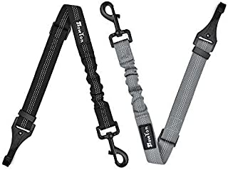 Slowton Dog Seat Belt, 2 Packs Latch Bar Attachment Dog Car Seatbelt Metal Buckle Vehicle Seatbelt for Small Medium Large ...