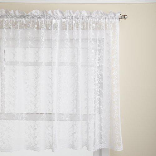 cortinas blancas encaje