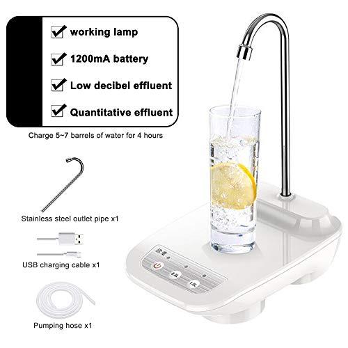 JuneJour Elektrische Wasserflasche Pumpe Drahtlose Wasserspender Tragbare Auto Eimer Wasserpumpe Flasche Spender 1 Stück