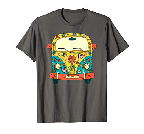 Auto Bus Camping Hippie Cartoon Modell Damen Herren Kinder T-Shirt