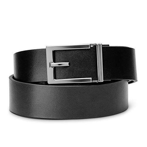 "KORE Men's Top-Grain Leather Track Belts | ""Express"" Alloy Buckle"