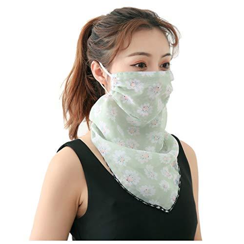 riou Damen Halstuch Mundschutz Multifunktionstuch Sommer Dünn Atmungsakt UV-Schutz Chiffon Schal Tuch Schlauchschal