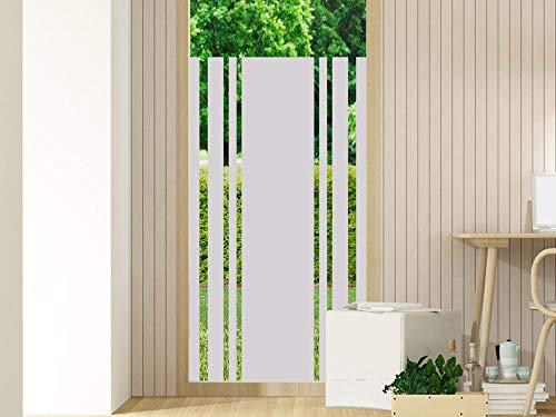 GRAZDesign Fensterfolien Sichtschutz - Fenstertattoo Glastür Aufkleber - für Flur Eingangstür oder Terrassentür/Motiv: Unten komplett - Oben dünne Streifen / 80x110cm Breite x Höhe