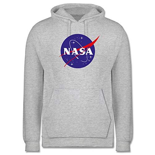 Shirtracer Sprüche Statement mit Spruch - NASA Meatball Logo - XXL - Grau meliert - NASA 4XL - JH001 - Herren Hoodie und Kapuzenpullover für Männer