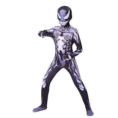 MODRYER Venom Costume de Spiderman unisexe pour filles et garçons Cosplay Combinaison de super-héros Halloween Fête Déguisement Vêtements Lycra Spandex Zentai