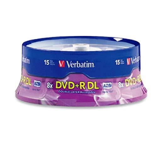 Verbatim DVD+R DL 8,5 GB 8X mit Marken-Oberfläche 15-Disc 15-Disc violett