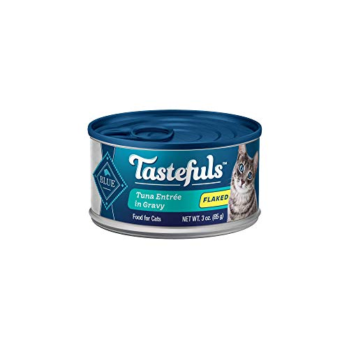 Blue Buffalo Tastefuls Natural Flaked Wet Cat Food Tuna Entrée in Gravy 3-oz cans (Pack of 24)