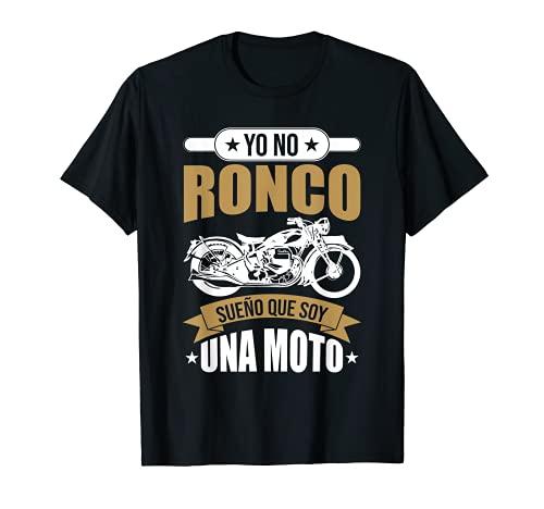 Hombre Motociclismo Divertido Motero Biker Sueño Que Soy Una Moto Camiseta