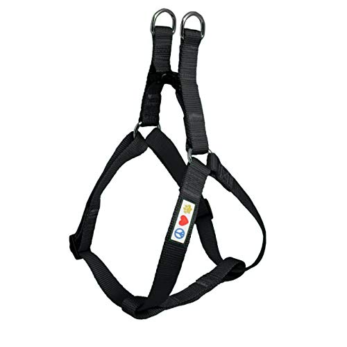 Pawtitas Solid Color Step in Dog Harness or Vest Harness Dog Training Walking of Your Puppy Harness Extra Small Dog Harness Black Dog Harness