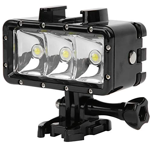 Mini luz de Relleno LED de Buceo, cámara Digital subacuática Impermeable de 30 m para fotografía/videocámara, lámpara de fotografía con luz de Relleno de Video, para Gopro para SJ400