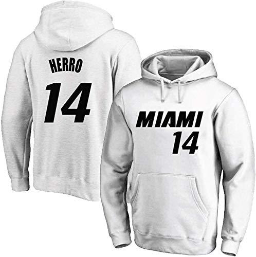 ZEH Tyler Herro - Sudadera con capucha para hombre, diseño de Miami Heat 14 sudaderas, sudadera con capucha clásica con capucha (talla M: M) FACAI (talla: XXXXL)