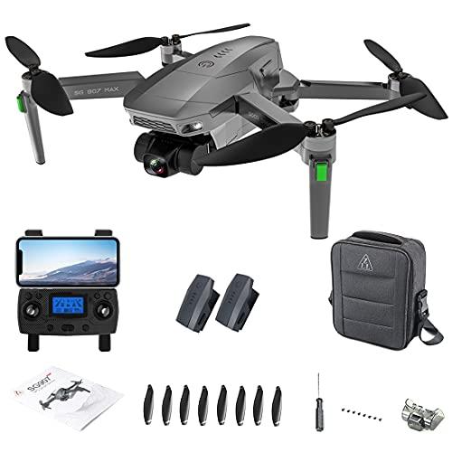 Bybo Dron teledirigido ZLL SG907 MAX GPS con cámara 4K, 3 ejes,...
