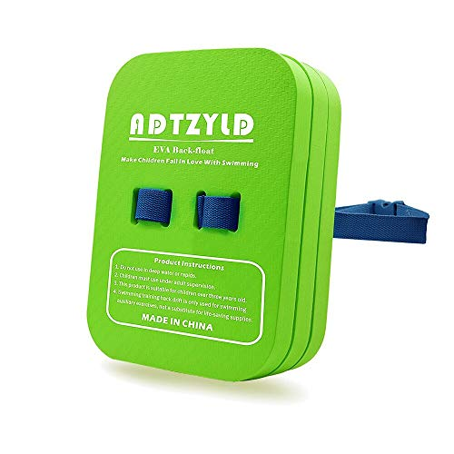 ADTZYLD Back Float Swim Belt Bubble Trainer Swimming Training Aid with Adjustable Split Layers for Kids Weight Under 120 Pounds (Medium)