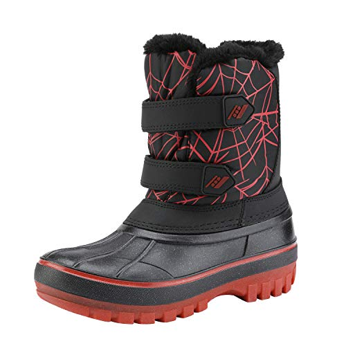 DREAM PAIRS Little Kid Ducko Black Red Ankle Winter Snow Boots Size 3 M US Little Kid