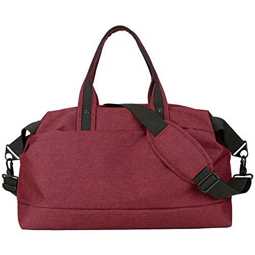 GELing Bolsa Deporte Bolsa Gimnasio de Viaje Impermeable Bolsos Deportivos Fin de Semana Travel Duffle Bag para Hombre y Mujer Negro,,