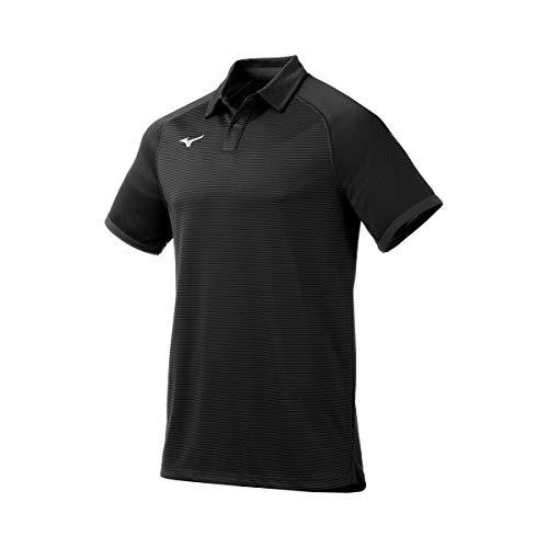 Mizuno Scout Polo, Negro, XL para Hombre