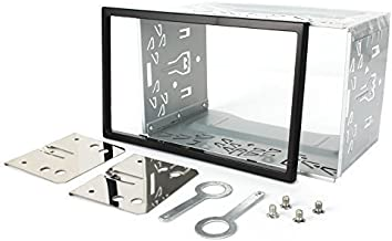 PUMPKIN Universal Double Din Mounting Metal Installation Kit Fitting Cage for 2 DIN in Dash Car Stereo Radio
