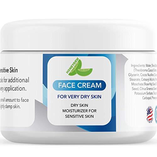 Best Facial Moisturizers for Sensitive Skin – Natural Anti Aging Cream for Women & Men – Anti Wrinkle Eye Cream – Skin Tightening Cream for All Skin Types – Daily Moisturizer Fragrance Free
