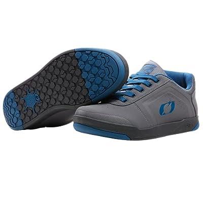 O'NEAL | Mountainbike-Schuhe | MTB Downhill Freeride | Vegan | Gleichgewicht zwischen Grip und Fußrepositionierung, Innengelenkschutz | Pinned Pro Flat Pedal V.22 Shoe | Erwachsene | Grau Blau | 42