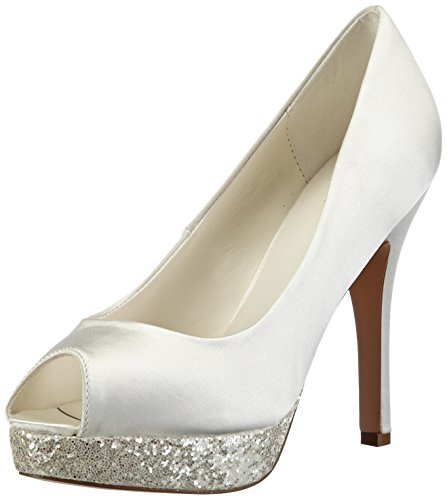 Menbur Wedding Damen Aitana Pumps, Elfenbein (Ivory), 37 EU