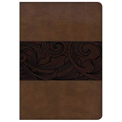 CSB Study Bible, Personal Size Edition, Mahogany LeatherTouch, Red Letter, Study Notes and Commentary, Illustrations, Ribbon Marker, Sewn Binding, Easy-to-Carry