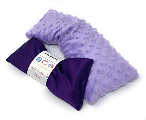 Microwavable Heat Pad & Eye Pillow - Gift Set - Lavender Scented Eye Pillow & Microwave Heating Pad Great Gifts for Women, Mom to Be Gift- Aromatherapy Sleeping Eye Mask for Yoga Headache Pain Relief