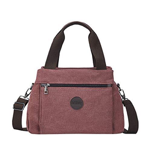 CMZ Backpack Retro Casual Women's Bag Canvas Lady's Hand Shoulder Crossbody Bag Women's Large Capacity Multi-Interlayer Canvas Bag