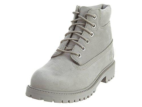 Timberland Unisex-Kinder 6-Inch Premium Waterproof Boot Klassische Stiefel, Grau (Medium Grey Nubuck), 34.5 EU