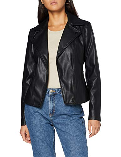 Armani Exchange Faux Leather Jacket Chaqueta de Cuero de imitación, Negro, M para Mujer