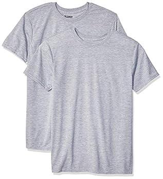 Gildan Men s Moisture Wicking Polyester Performance T-Shirt 2-Pack Sport Grey Large