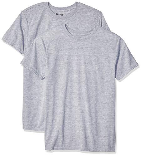 Gildan Men's Moisture Wicking Polyester Performance T-Shirt, 2-Pack, Sport Grey, X-Large
