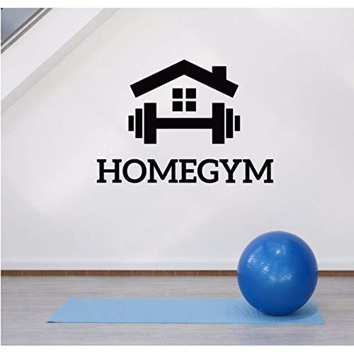 Lvabc Home Gym Wanddekoration Aufkleber Fitness Motivation Sport Room Decor Aufkleber Schlafzimmer Kunst Aufkleber Wandbilder Abnehmbare Tapete 60X42 Cm