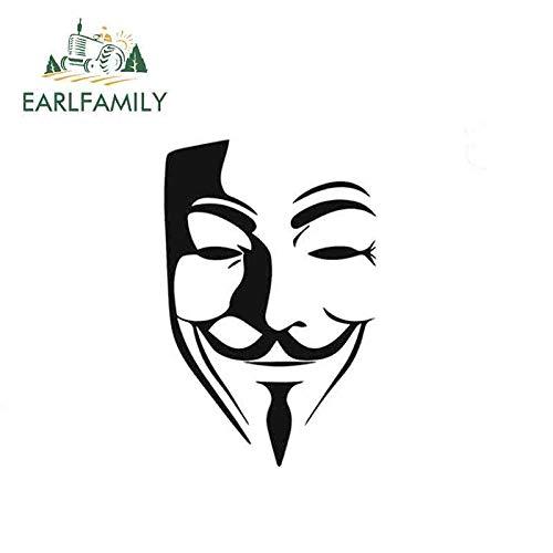 BJDKF 15cm x 10cm V voor Vendetta Anonieme Man Fawkes Masker Decal Vinyl Auto Styling Auto Sticker #1 - Dec1098 Zwart/Zilver Kleur: wit