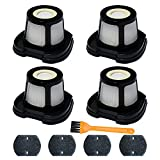 4 Pack 2284W Filter Compatible with Bissell Pet Hair Eraser Hand Vacuum 2284W, 2390, 2389, 2390A, Replace Parts for 1614212, 1614203, 1614204