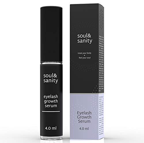 Wimpernserum - Wimpernwunder für stärkeres Wimpernwachstum, mehr Volumen und dunklere Farbe der Wimpern | mit Hyaluronsäure | 4.o ml (4.0 ml)