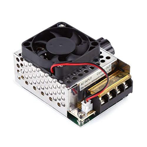 Ballylelly 4000W AC 220V Regulador de Voltaje Motor Controlador de Velocidad Ventilador Termostato Dimmer