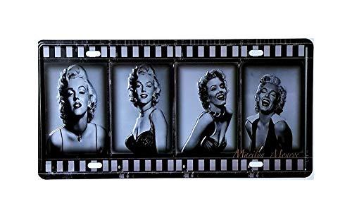 MR Placa de matricula Vintage Marilyn Monroe 30 x 15 cm