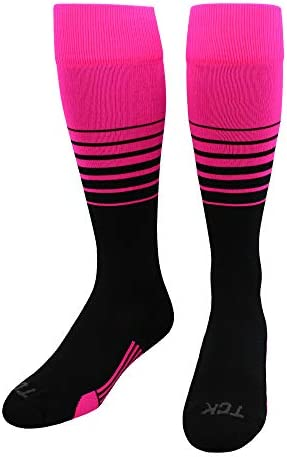 TCK Sports Elite Breaker Soccer Socks Hot Pink Black Medium product image