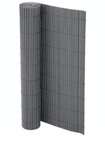 Enjoy-Quality PVC Sichtschutzmatte, Balkonverkleidung, Sichtschutzzaun, Balkonumrandung, Blende mit verstärkten Lamellen, Garten, Balkon, Terrasse, Outdoor (90 x 300 cm (LxB))