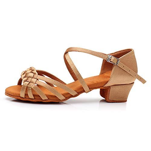 HIPPOSEUS Zapatos de Baile Latino para niñas y Mujeres Zapatos de Baile...
