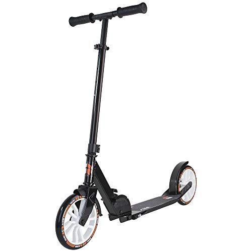 STIGA Hoppfällbar Sparkcykel Route 200-S för Vuxna och Barn, svart